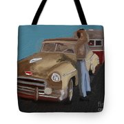 Toy Car Holiday Tote Bag