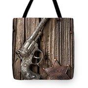 Toy Gun And Ranger Badge Tote Bag