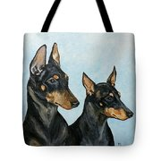 Toy Manchester Terriers Tote Bag