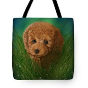 Toy Poodle Puppy Tote Bag