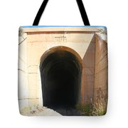 Toy Train Tunnel Tote Bag