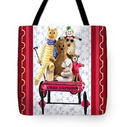 Toys In A Red Wagon Tote Bag