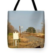Track Crossing  Tote Bag