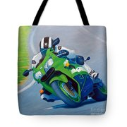 Track Day - Kawasaki Zx9 Tote Bag