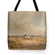 Track On A Windy Day Tote Bag