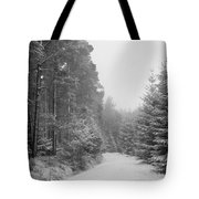 Track, Winter, Slaley Woods Tote Bag