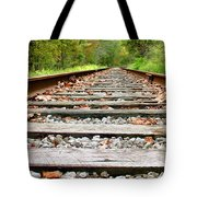Tracking To The Right And Around The Bend Tote Bag
