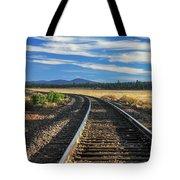 Tracks At Crater Lake Tote Bag