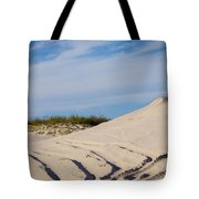 Tracks In The Sand Dunes Tote Bag