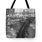 Tracks Into The City Tote Bag