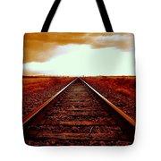Marfa Texas America Southwest Tracks To California Tote Bag