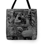 Tractor Bw Tote Bag