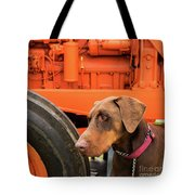 Tractor Dog Tote Bag