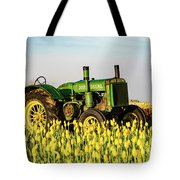 Tractor In A Field Tote Bag