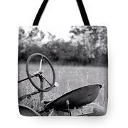 Tractor In Long Grass Tote Bag