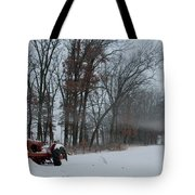 Tractor In The Fog Tote Bag