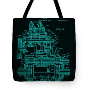Tractor Patent Drawing 7f Tote Bag