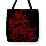 Tractor Patent Drawing 7j Tote Bag