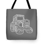 Tractor Transparent Tote Bag