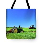Tractors Working  Tote Bag