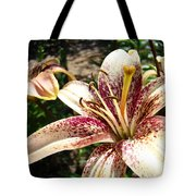 Traditional Art Lily Flowers Floral Garden Baslee Troutman Tote Bag