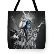 traditional dancer Blue Tote Bag