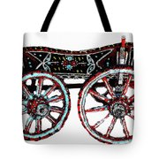 Traditional Painted Donkey Cart  Tote Bag
