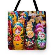 Traditional Russian Matrushka Nesting Puzzle Dolls Tote Bag