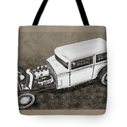 Traditional Styled Hot Rod Sedan Tote Bag