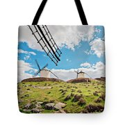 Traditional White Windmills  Tote Bag