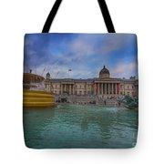 Trafalgar Square Fountain London 12 Tote Bag