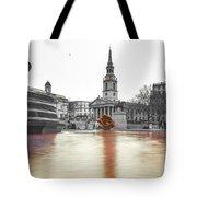 Trafalgar Square Fountain London 3b Tote Bag