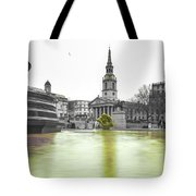Trafalgar Square Fountain London 3c Tote Bag