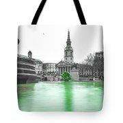 Trafalgar Square Fountain London 3f Tote Bag