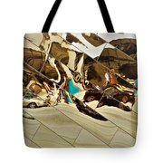 Traffic Along Euclid, Cleveland Tote Bag