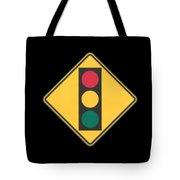 Traffic Light T-shirt Tote Bag