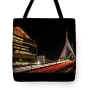 Traffic Racing Over Zakim Bridge Tote Bag