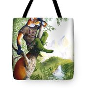 Trail Blazing Fox Tote Bag