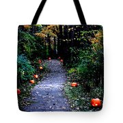 Trail Of 100 Jack-o-lanterns Tote Bag