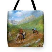 Trail Ride In Sabino Canyon Tote Bag