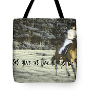 Field Racing Quote Tote Bag