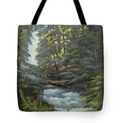 Trail To The Falls Tote Bag
