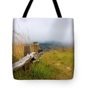Trail With Coastal Morning Fog Tote Bag