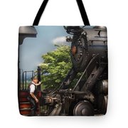 Train - Engine - Alllll Aboard Tote Bag by Mike Savad