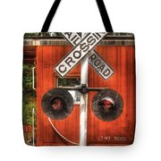 Train - Yard - Railroad Crossing Tote Bag