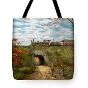 Train - Arlington Nj - Enjoying The Autumn Day - 1890 Tote Bag