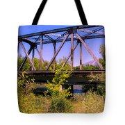 Train Bridge Tote Bag