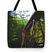 Train Bridge Tote Bag