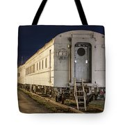 Train Car And Tracks Tote Bag
