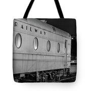 Train Car, Black And White Tote Bag